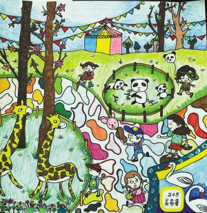 吴易睿(9岁)儿童画作品图片