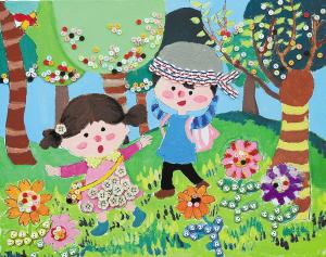 朱雨悦(9岁)儿童画作品图片