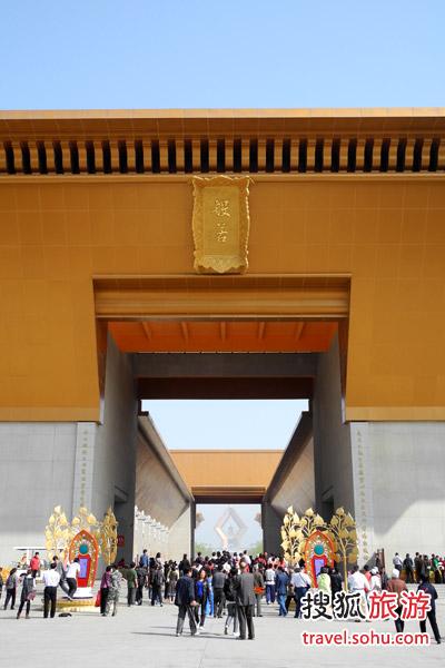 耗费巨资兴建的法门寺景区 图片来源:搜狐旅游