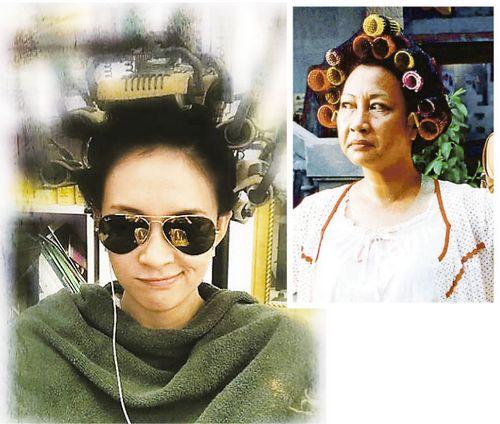 章子怡满头发卷模仿包租婆(图)图片