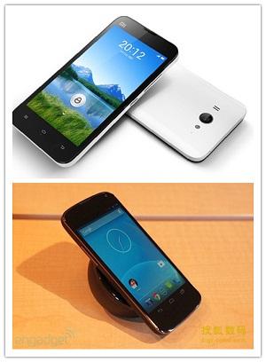 小米2和谷歌Nexus 4