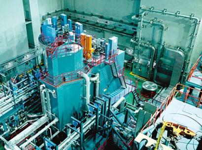 图为中国实验快堆反应堆大厅