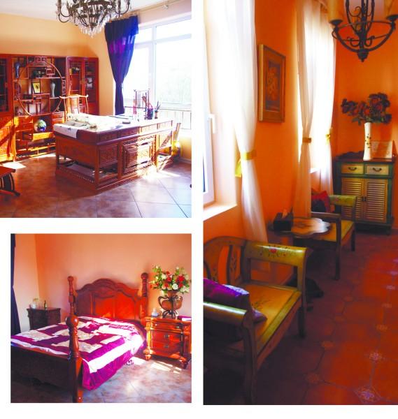 欧式范儿的卧室 手绘家具也是网购杰作