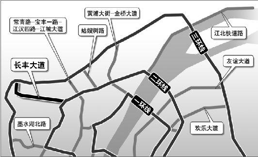 汉口长丰大道拟全程高架(图)