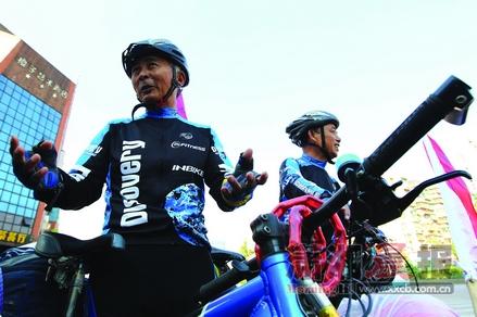 两位六旬老人骑行2500公里穿越7省