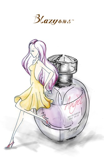 瓶身手绘图