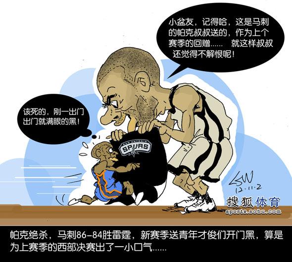 NBA头像:帕克绝杀送漫画开门黑a头像v头像青年古代漫画雷霆男生图片