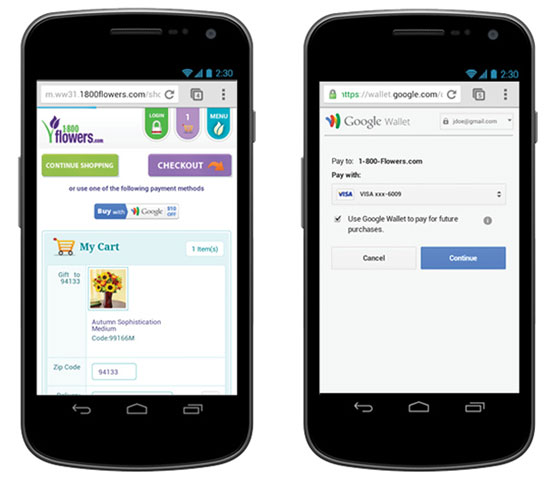 点击三下即结账!谷歌电子钱包支持移动网页