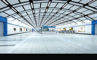 """""""从设计线路地图上,地铁2号线的线路走向就像一双手将青岛的主城区"""
