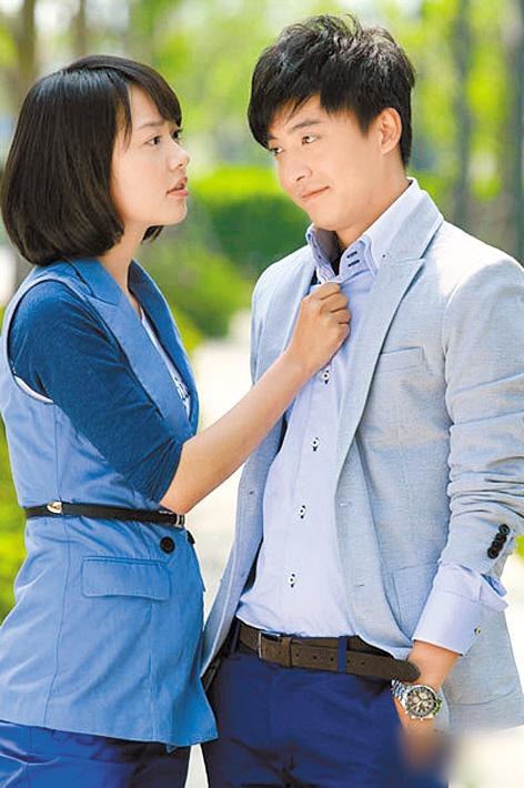 孙耀琦与李佳航在《艾米加油》里演情侣