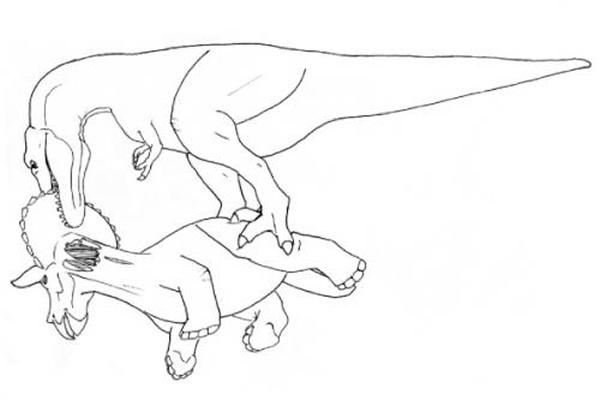 如何吃掉一头三角龙   如何吃掉一头三角龙   如何吃掉一头三角龙   霸王龙和三角龙之间的争斗充满了血腥和暴力.