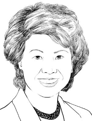 赵小兰(Elaine Lan Chao)美国前劳工部长罗姆尼竞选团队亚太裔全国主席