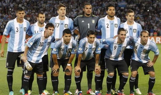 足球海报手绘阿根廷