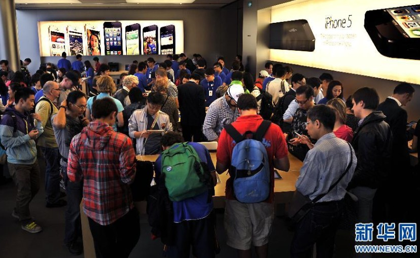 苹果、iPad等各类产品在香港销售火爆组