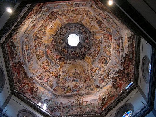 米开朗基罗壁画 末日审判 穹弧形天顶