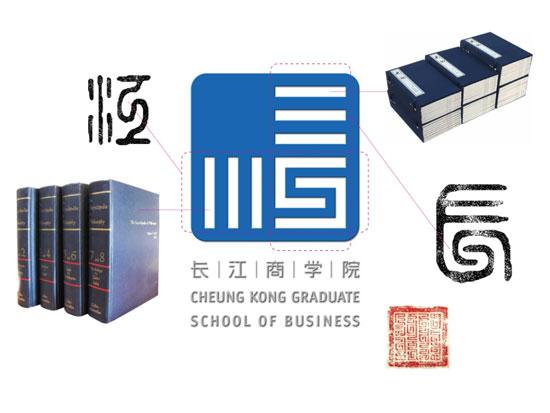 2002版长江商学院LOGO示意图