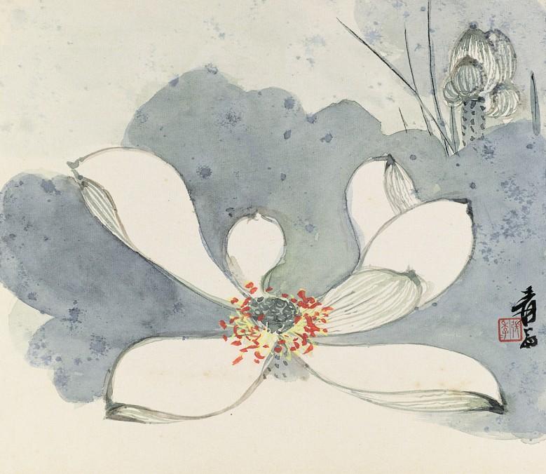 张大千/张大千(1899-1983)花卉册(8选1)