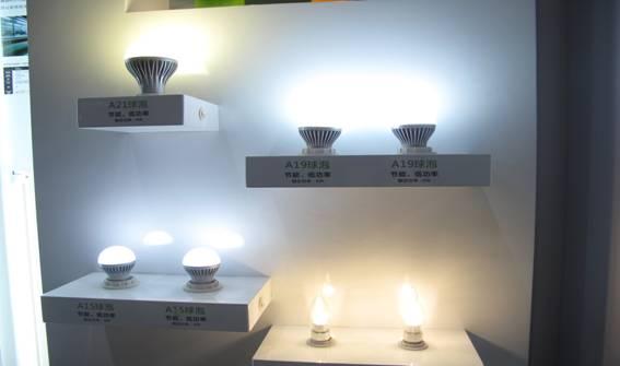 中国 木林森/在第九届中国国际半导体照明展览会上,木林森LED球泡灯产品