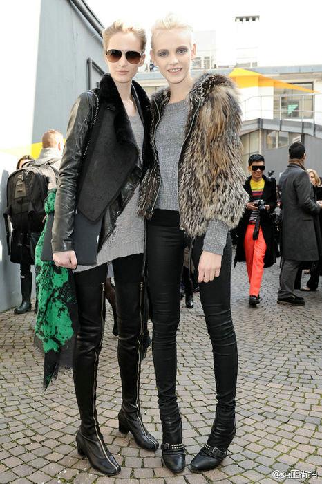 从冬季最新街拍中,我们可以看到不同国家的明星冬季街拍时尚穿衣风图片