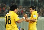 足协杯决赛图:人和1-1恒大 巴里奥斯孔卡庆祝