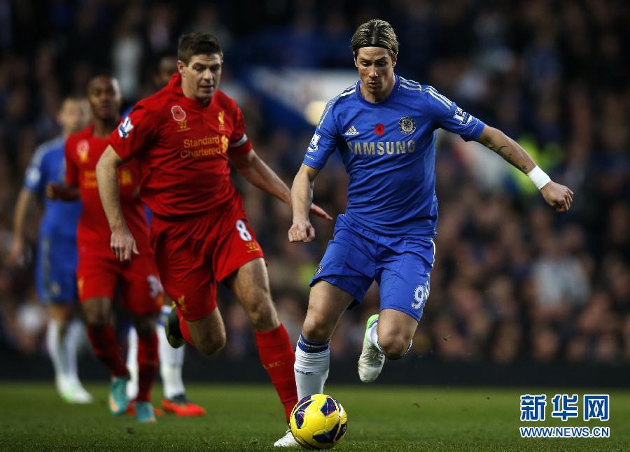 在2012-2013赛季英格兰足球超级联赛第11轮比