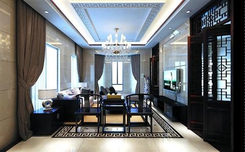 中式地面拼花贴图;; 地点:丽致星河风格:新中式设计师:红蚂蚁园区公司图片