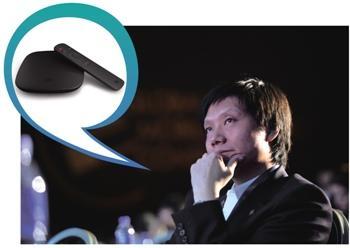 雷军继续向苹果致敬: 11月14日小米公司正式发布电视机顶盒小米盒子。