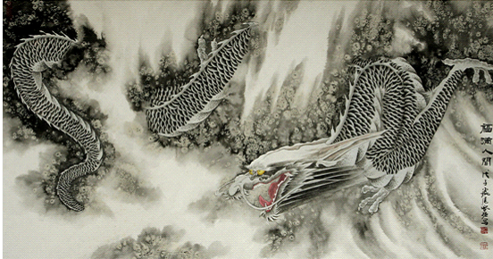 共庆龙年盛事,中华画龙第一人张登强画展在深成功开幕图片