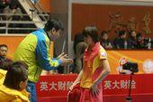 图文:乒超联赛第八轮赛况 陈梦接受指导