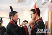 图文:名人战决赛永城打响 檀啸第一次穿汉服