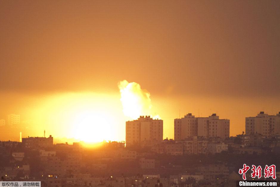 巴以冲突背景_巴以冲突持续升级 以战机继续空袭加沙170多人死伤(高清组图)
