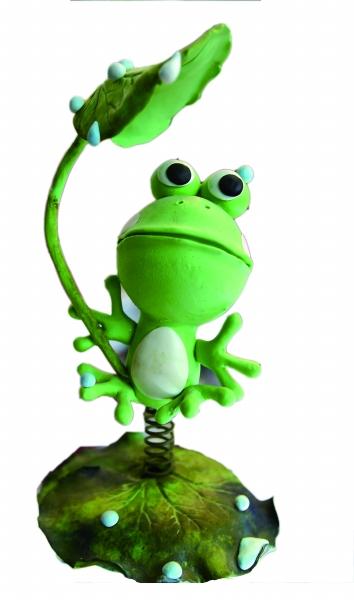 荷叶蛙趣图片