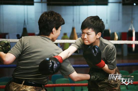 汤小米与母亲拳击赛.jpg