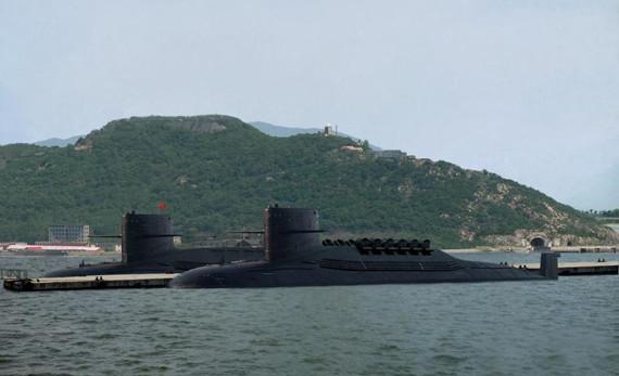 资料图:094级战略导弹核潜艇。