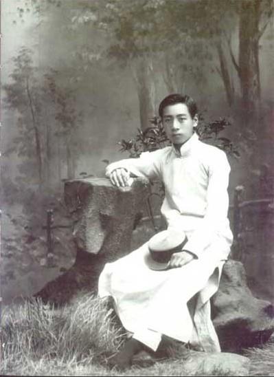 1914年,在天津南开学校读书时的周恩来(资料图)