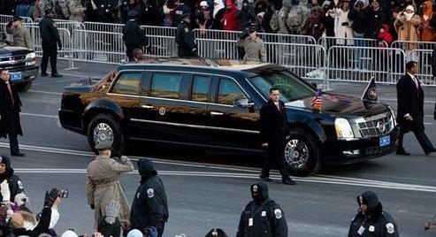 奥巴马的座驾凯迪拉克豪华加长防弹车