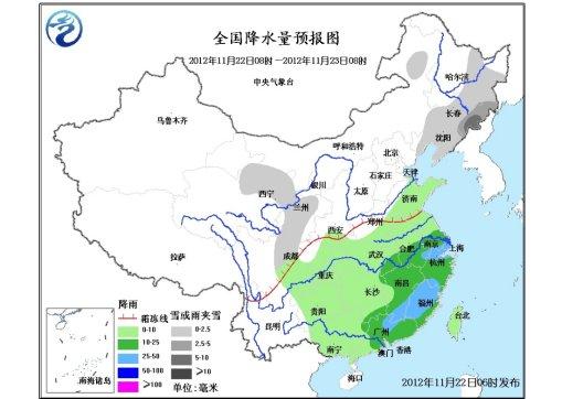 较强冷空气影响中东部地区 江南华南有中到大雨