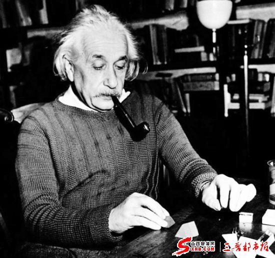 爱因斯坦/据美国科学家得出的一项新研究发现,爱因斯坦的惊人智商可能与...