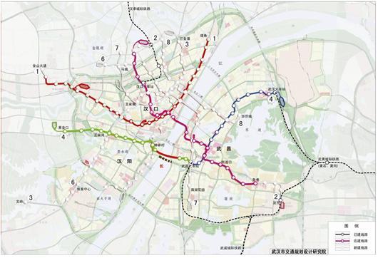武汉 地铁4号线昨开始穿越长江图片 36580 530x362