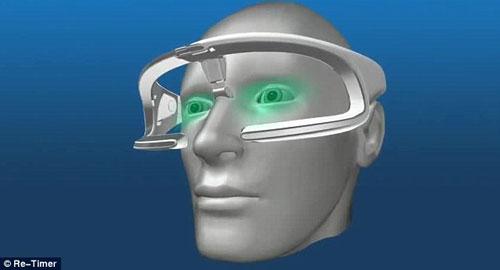 """科学家近日发明出的""""时间控制""""眼镜。"""