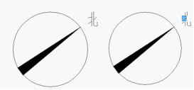 ps指北针图标_图6 指北针标注实例