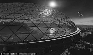 """火星""""透明穹顶建筑""""示意图"""