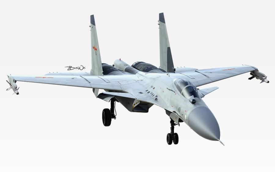 外媒盘点中国歼15舰载战斗机原型机(组图)