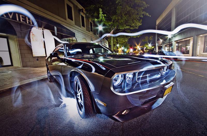 光影涂鸦 汽车光摄影图赏
