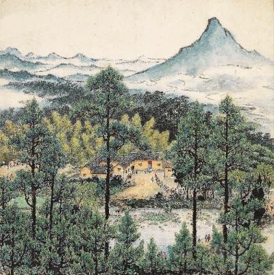 韶山青松中国画 关山月图片