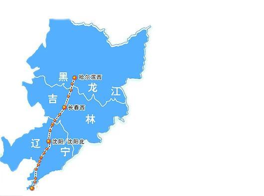 湖北到哈尔滨地图