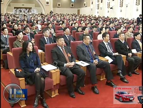 章子怡参加会议 央视网