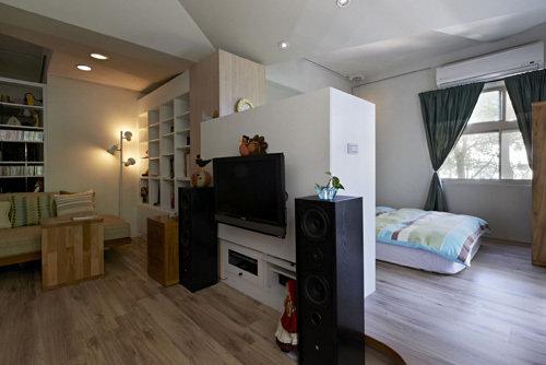 40平米也能开趴 2套开放式单身公寓设计(组图)
