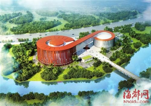 莆田市博物馆新馆形似一柄如意(鸟瞰效果图)
