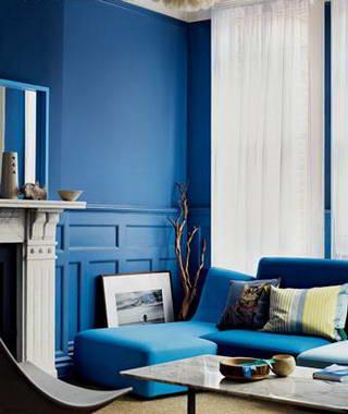 张扬蓝色提升组图魅力的奢华但不装修(色彩)设计图a蓝色图片